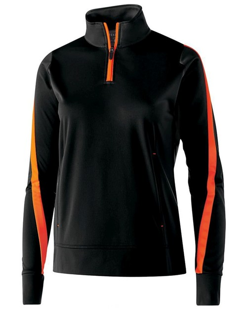Holloway 229392 Ladies Polyester 1/4 Zip Determination Pullover