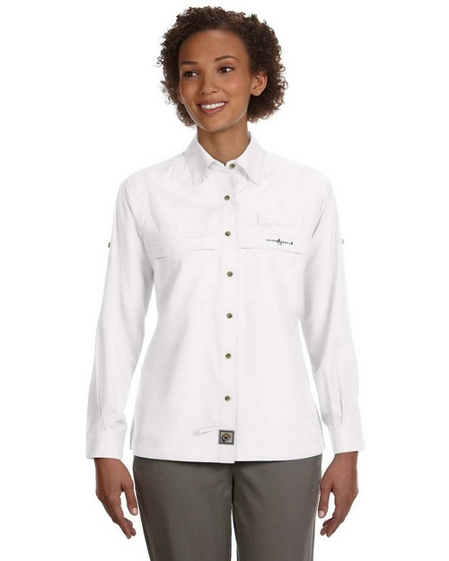 Hook & Tackle 1015L Ladies Peninsula Long Sleeve Performance Fishing Shirt