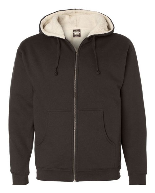 Independent Trading Co. EXP40SHZ Mens Sherpa Lined Full-Zip Hooded Sweatshirt