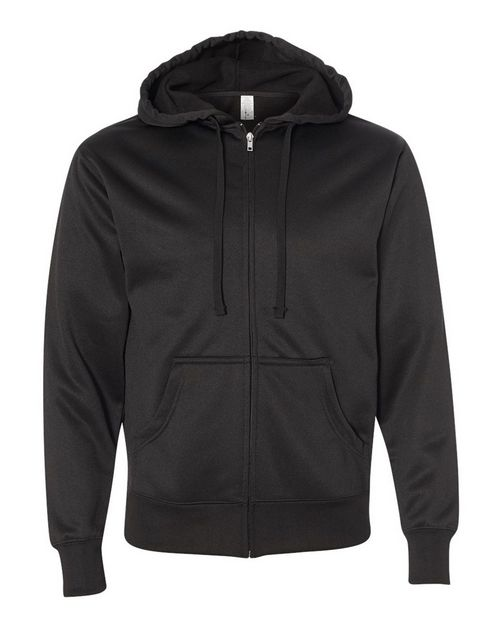 Independent Trading Co. EXP444PZ Mens Poly-Tech Hooded Full-Zip Sweatshirt