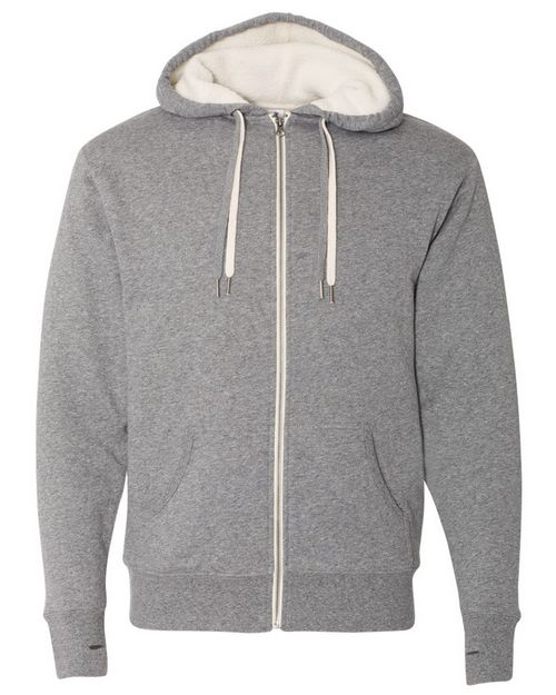 Independent Trading Co. EXP90SHZ Unisex Sherpa-Lined Hooded Sweatshirt