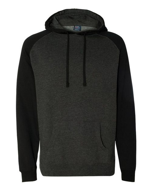 Independent Trading Co. IND40RP Mens Raglan Hooded Pullover