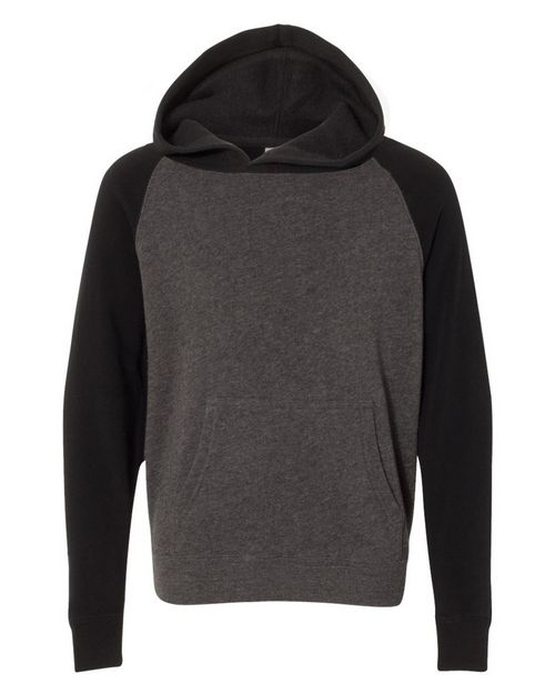Independent Trading Co. PRM15YSB Youth Special Blend Raglan Hooded Pullover