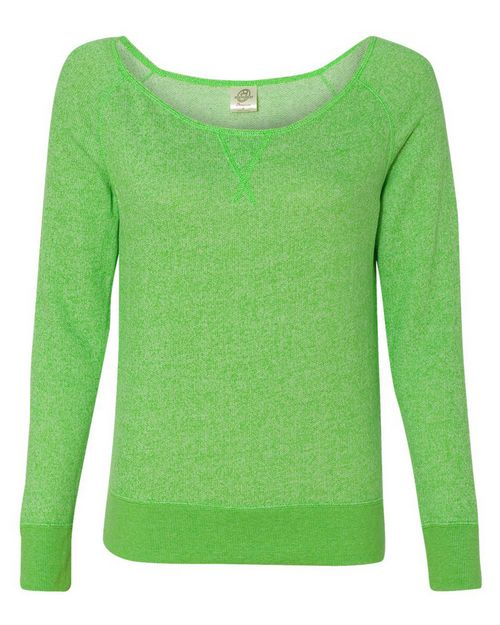 Independent Trading Co. PRM2400 Juniors Wide Neck Sweaterfleece Crew