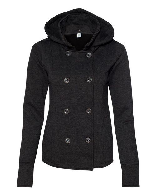Independent Trading Co. PRM350PC Juniors Premium Heavy Textured Fleece Pea Coat