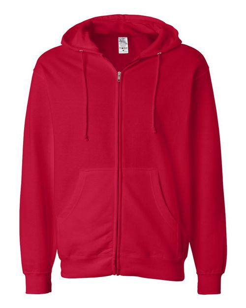 Independent Trading Co. SS4500Z Mens Midweight Hooded Full-Zip Sweatshirt