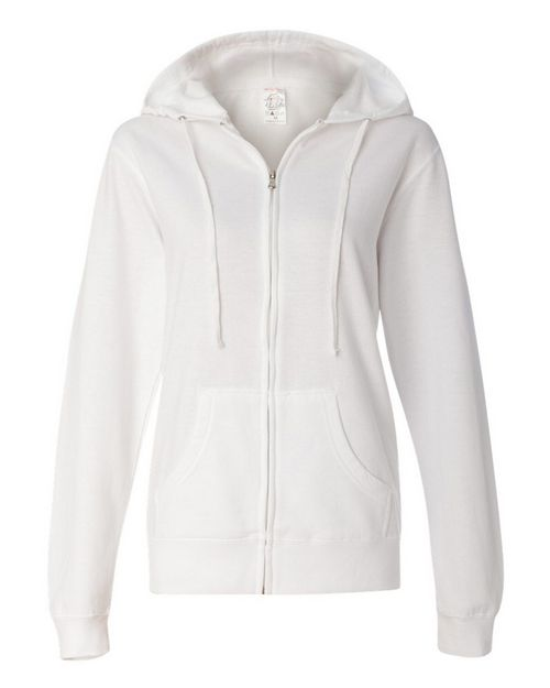 Independent Trading Co. SS650Z Womens Lightweight Full-Zip Hooded Sweatshirt