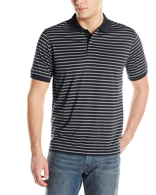 Izod 13Z0112 Mens Feeder Stripe Jersey Polo Shirt