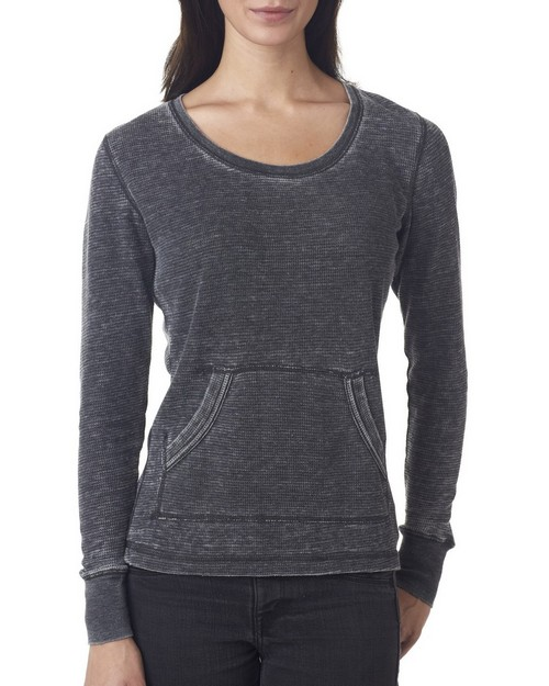 J America J8255 Ladies Blended Zen Thermal Long Sleeve Tee