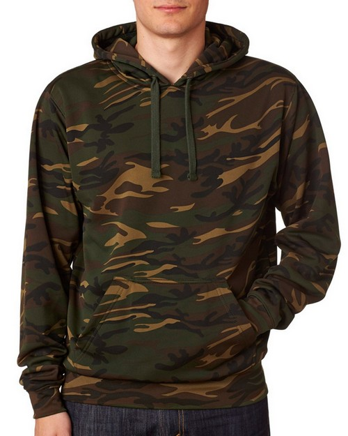 J America J8615 Adult Tailgate Poly Hooded Fleece Pullover