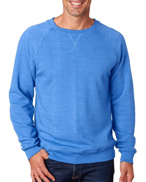 J America J8875 Adult Tri-Blend Fleece Crew Pullover