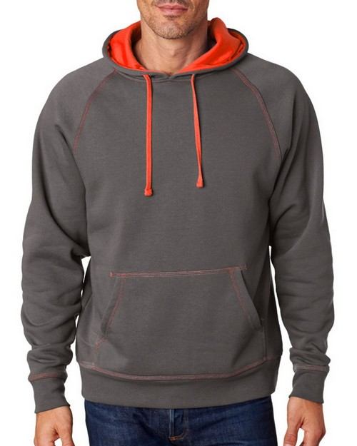 J America J8883 Adult Shadow Hooded Fleece Pullover