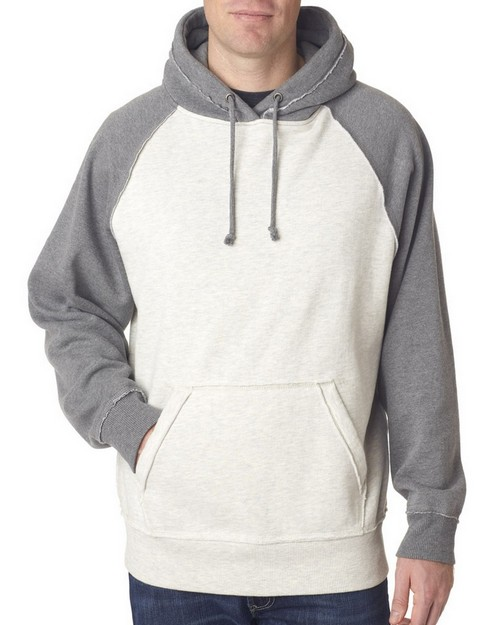 J America J8885 Adult Vintage Heather Hooded Fleece