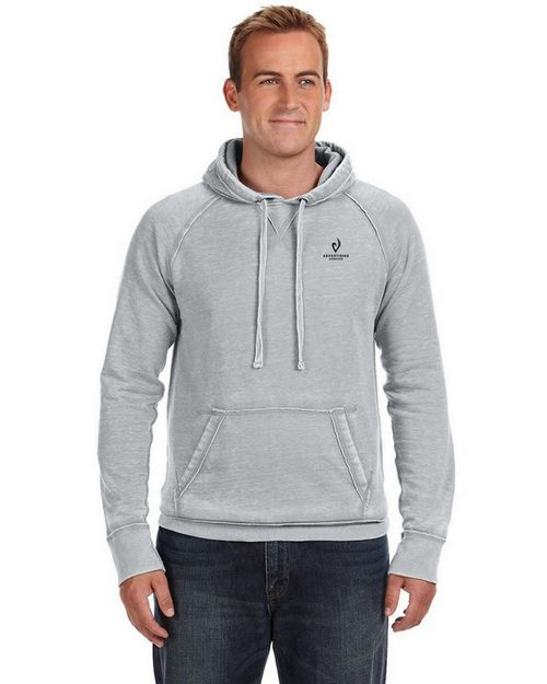 J America J8915 JA Burnout Hooded Sweatshirt