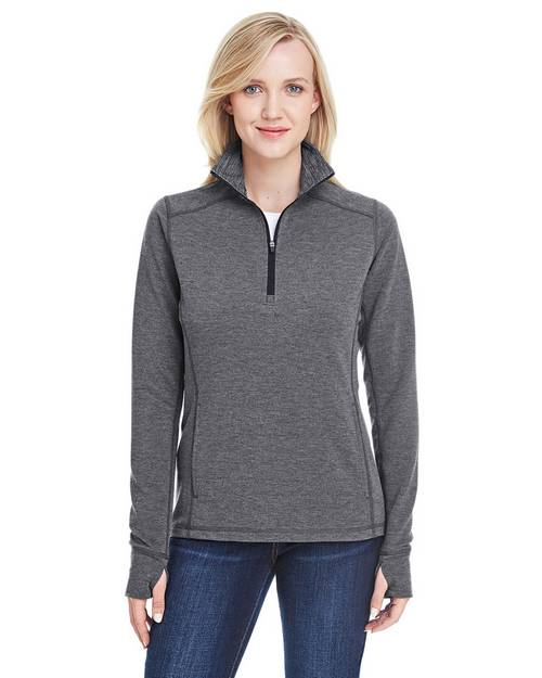 J America JA8433 Ladies Omega Stretch Quarter-Zip Pullover