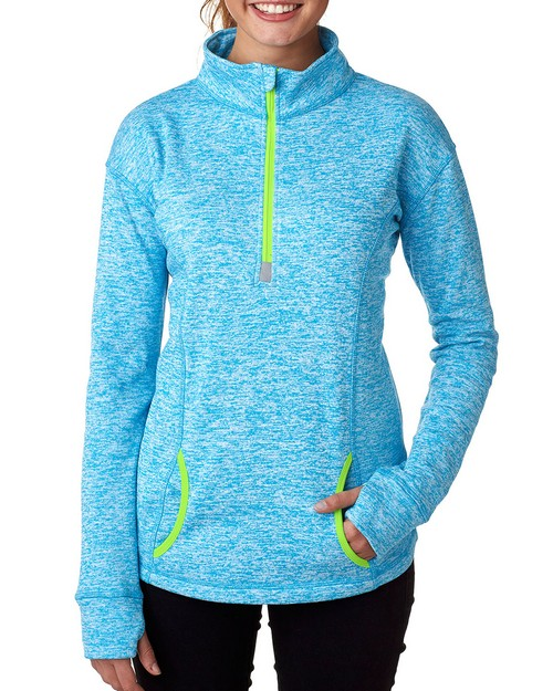 J America JA8617 Ladies Cosmic Fleece Quarter-Zip