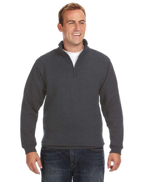 J America JA8634 Heavyweight Fleece Quarter Zip