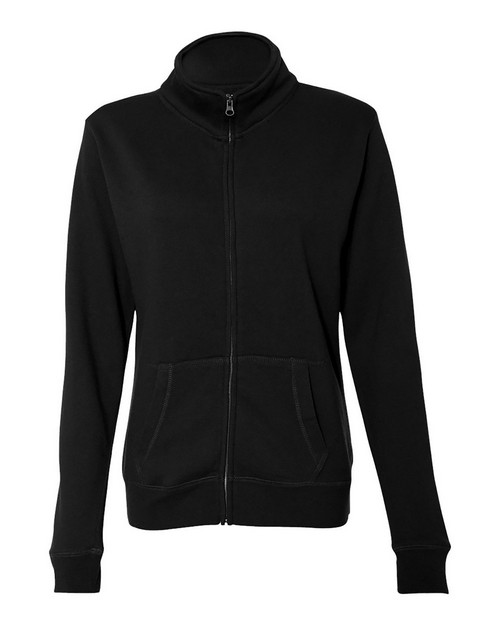 J America JA8635 Ladies Sueded Fleece Full Zip Jacket