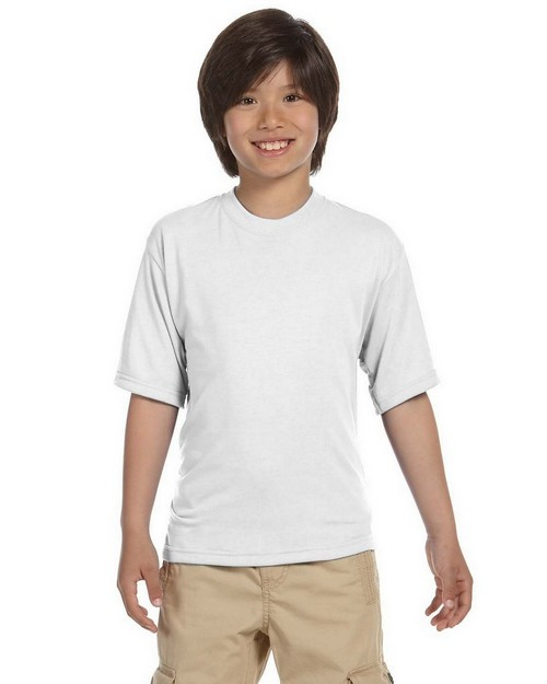 Jerzees 21B Youth 5.3 oz.; 100% Polyester Crew T-Shirt