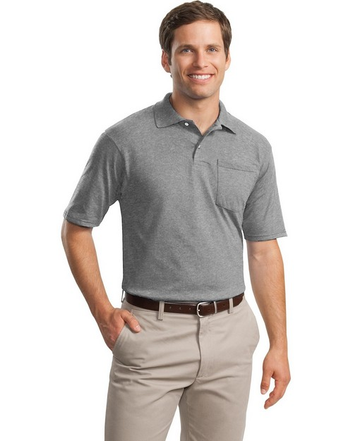 Jerzees 436MP SpotShield Jersey Knit Sport Shirt with Pocket