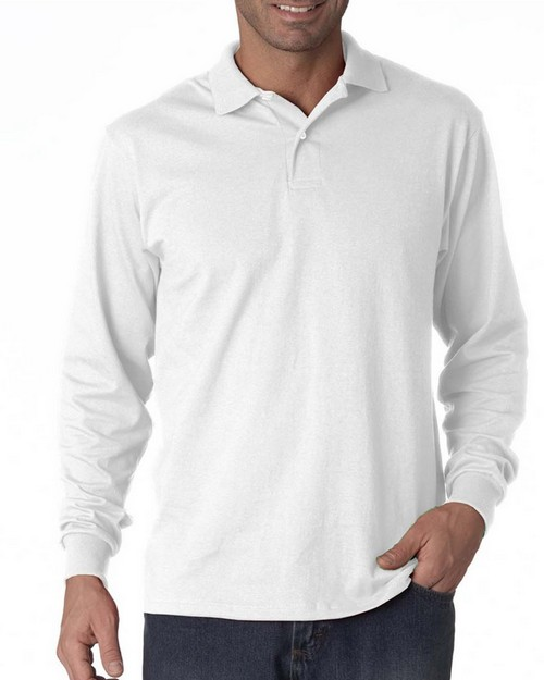 Jerzees 437L Long-Sleeve 50/50 Jersey Polo