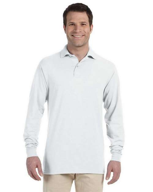 Jerzees 437ML 5.6 oz 50/50 Long-Sleeve Jersey Polo with SpotShield