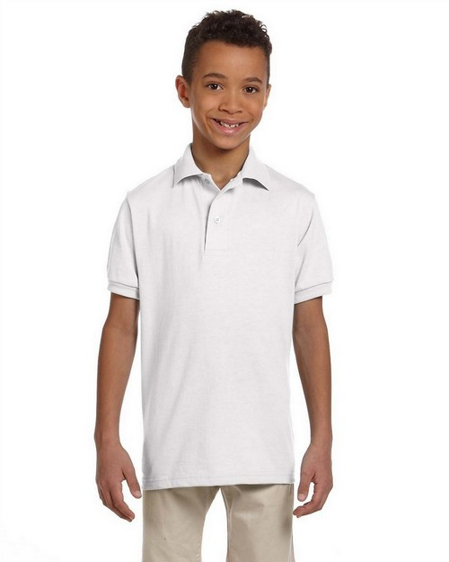 Jerzees 437Y Youth 5.6 oz.; 50/50 Jersey Polo with SpotShield