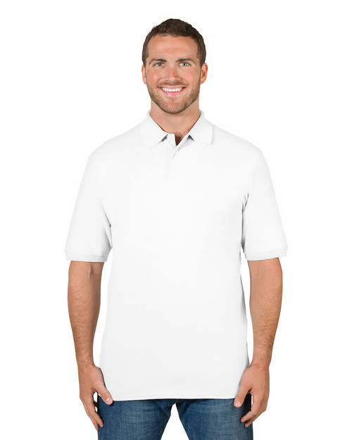 Jerzees 443MR Mens Premium 100% Ringspun Cotton Pique Polo Shirt