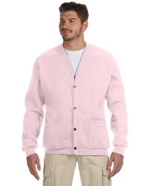 Jerzees 773M NuBlend 50/50 Button down Fleece Unisex Cardigan