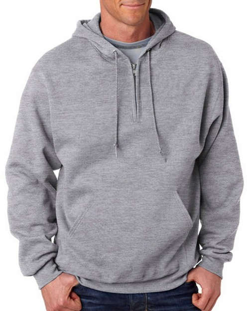 Jerzees 994MR 8 oz. NuBlend 50/50 Fleece Quarter-Zip Pullover Hood
