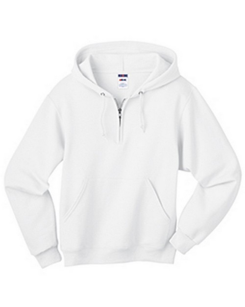 Jerzees 994M Nublend Adult Quarter-Zip Hooded Sweatshirt
