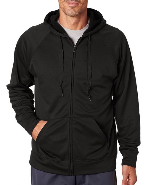 Jerzees PF93 Adult Sport Tech Fleece Full-Zip Hooded Sweatshirt