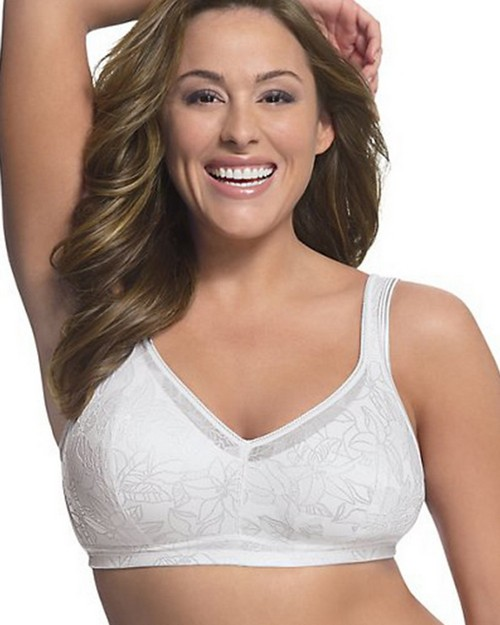 Just My Size 1285 Soft Support Wirefree Bra with Hidden Pocket