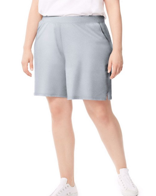 Just My Size J345 Womens Plus-Size Cotton Jersey Pocket Shorts