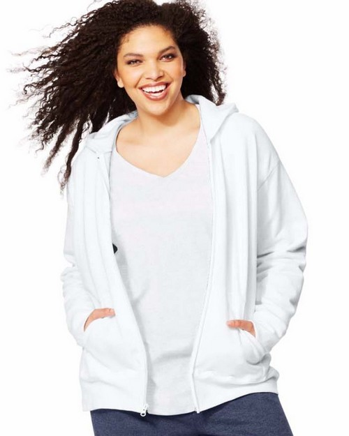 Just My Size OJ105 ComfortSoft EcoSmart Fleece Full-Zip Womens Hoodie