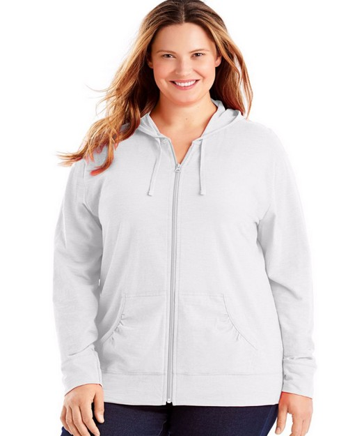 Just My Size OJ168 Slub-Cotton Full-Zip Womens Hoodie