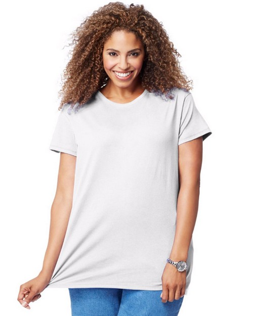 Just My Size OJ777 Cotton Jersey Short-Sleeve Scoop-Neck Womens Tee