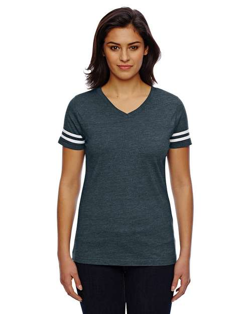 Lat 3537 Ladies Fine Jersey Football Tee