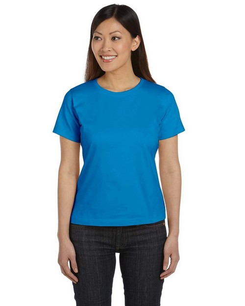 LAT 3580 Women Ringspun Crew Neck T-Shirt