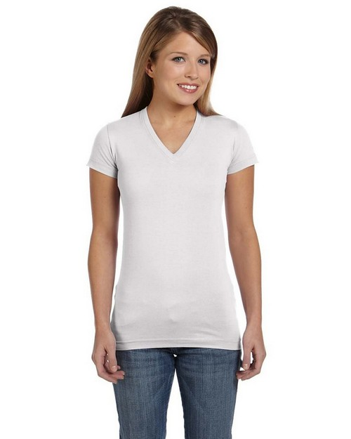 LAT 3607 Ladies Junior Fine Jersey Longer Length T-Shirt