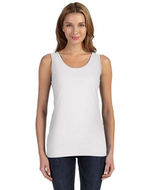 LAT 3690 Juniors Fine Jersey Longer Length Tank