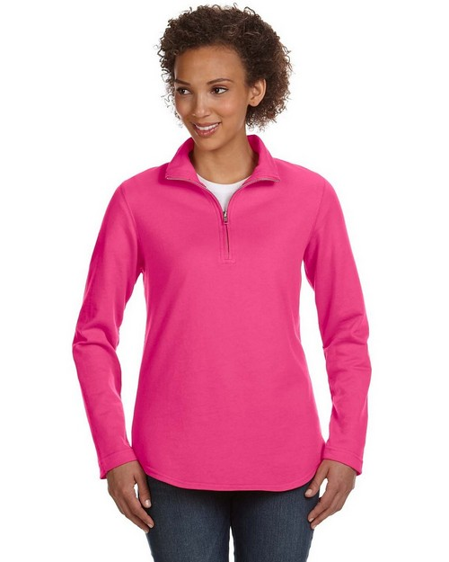 LAT 3764 Ladies Quarter Zip Pullover