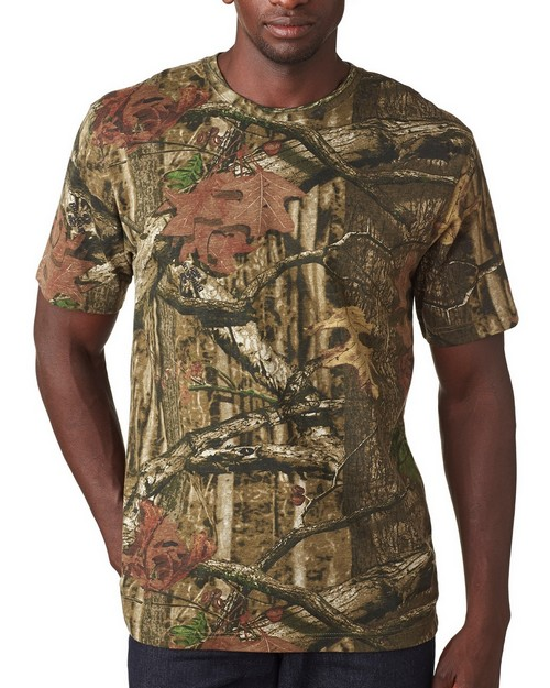 Lat 3970 Mossy Oak Camouflage Short Sleeve T-Shirt