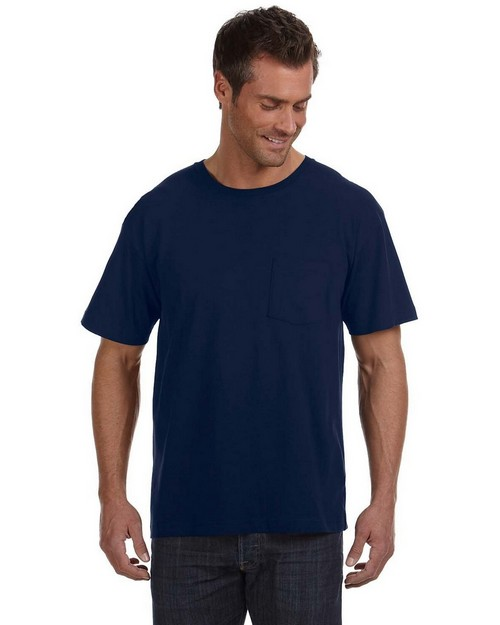 LAT 6903 Fine Jersey Pocket T-Shirt