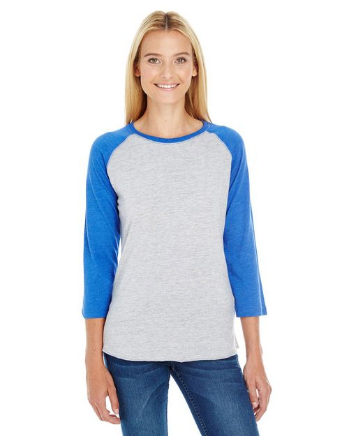 Lat L3530 Ladies Vintage Fine Jersey 3/4-Sleeve Baseball T-Shirt