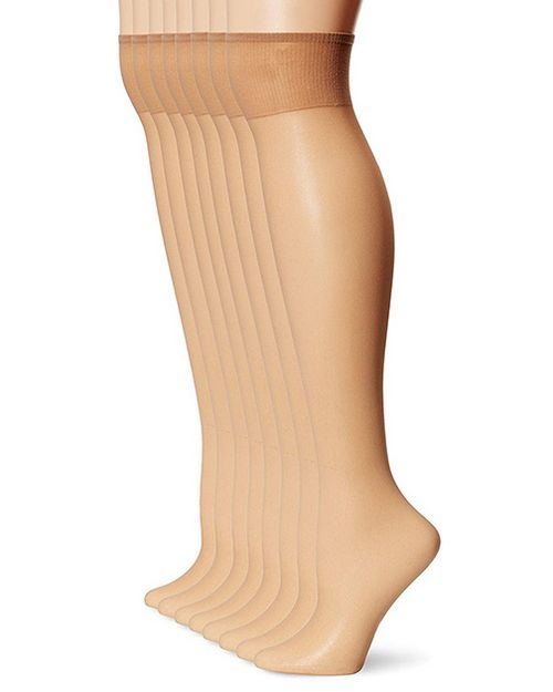 L'Eggs 39400 Everyday Knee High 8 Pair Pack