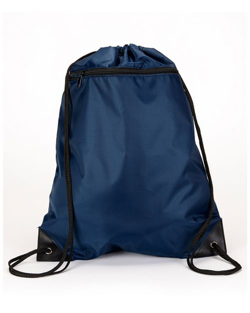 Liberty Bags 8888 Zippered Drawstring Backpack