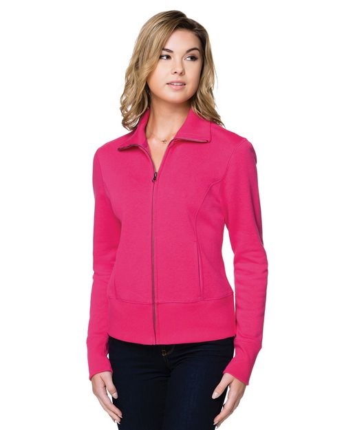 Lilac Bloom LB674 Women's 10 Oz. Fleece Full Zip Jacket