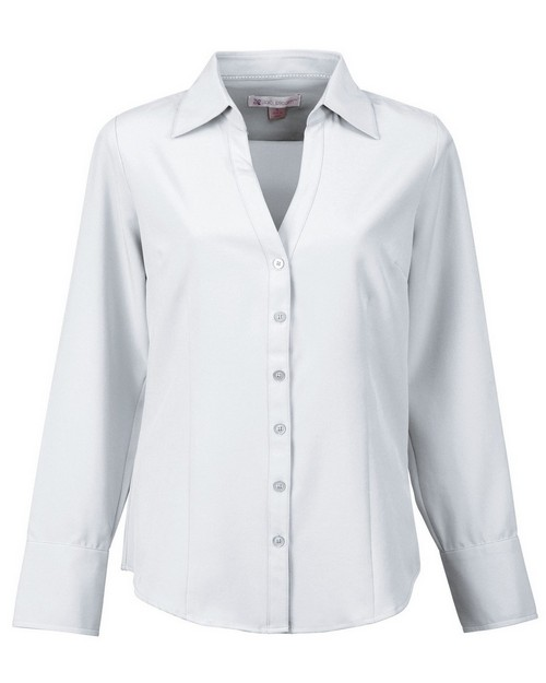 Lilac Bloom LB757 - Meredith-Women's Long Sleeve Open Neck Woven Shirt by Tri-Mountain