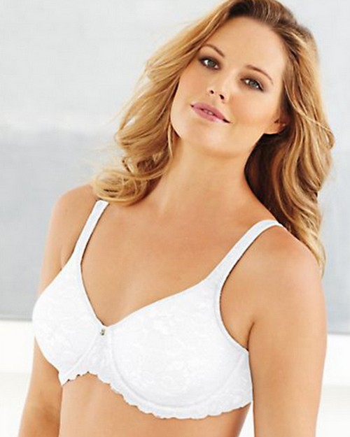 Lilyette 0977 Duofold Beautiful Support Lace Minimizer